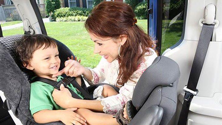 car rental with car seat lax