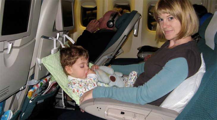 flying with an infant on your lap