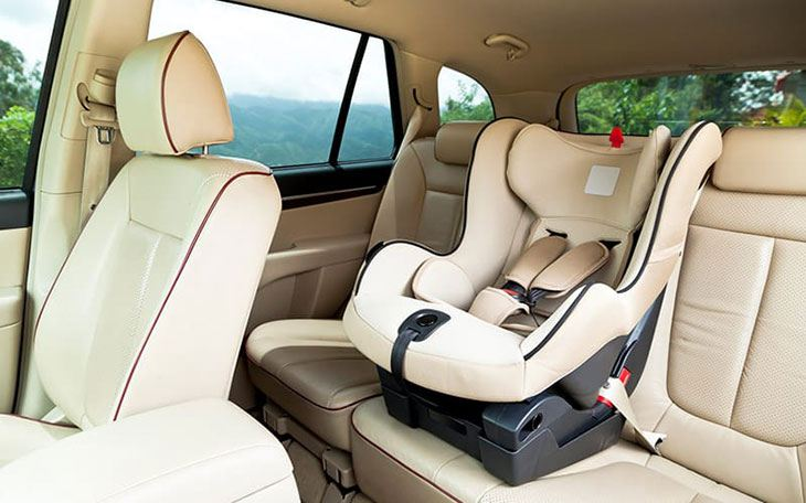 car hire abroad with car seat
