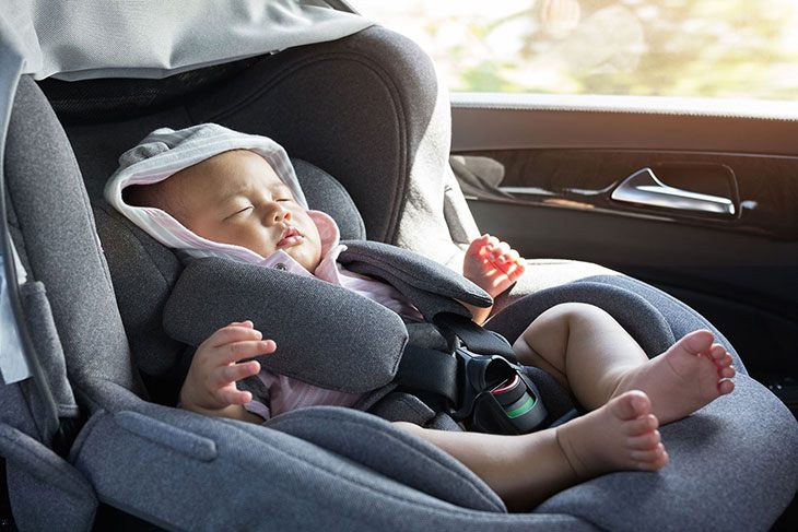 flying with infant car seat base