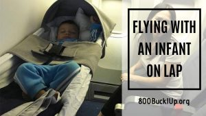 flying with an infant on lap