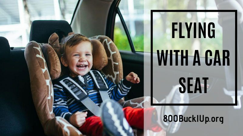 flying with a car seat