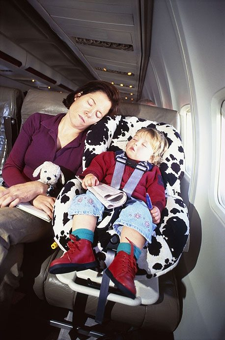 flying with a car seat and stroller