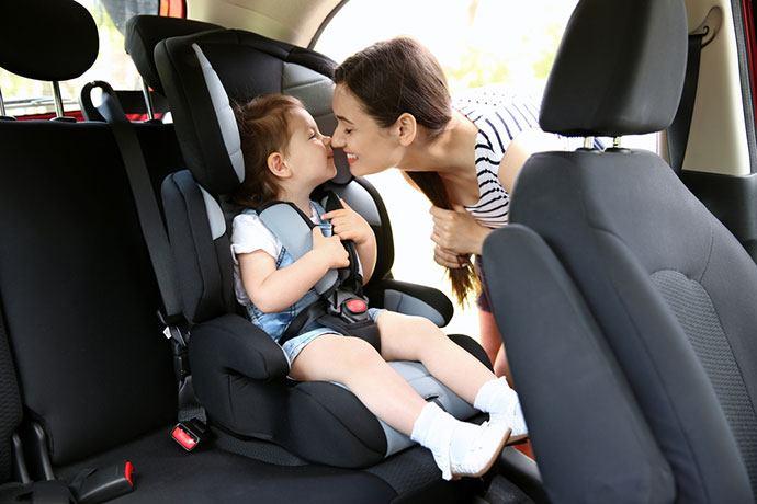 car rental and car seat